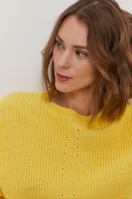 żółty Pieces - Sweter