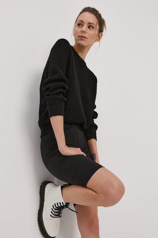 czarny Pieces - Sweter