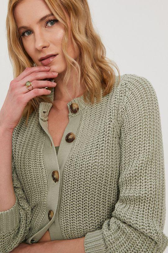 jasny zielony Pieces - Sweter