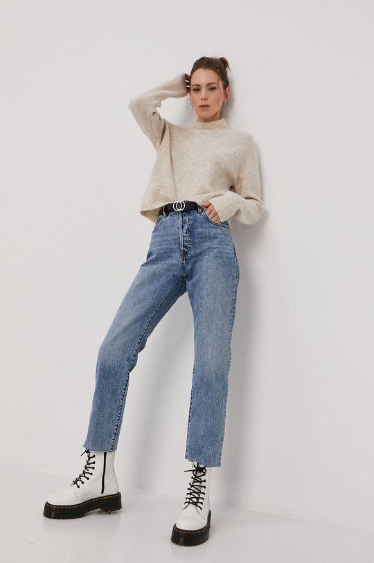Vero Moda - Sveter krémová