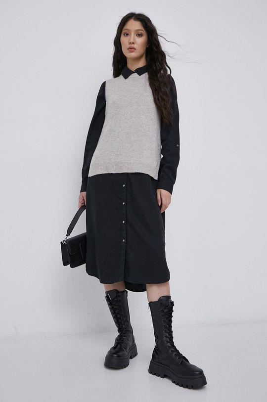 Jacqueline de Yong - Kamizelka jasny szary