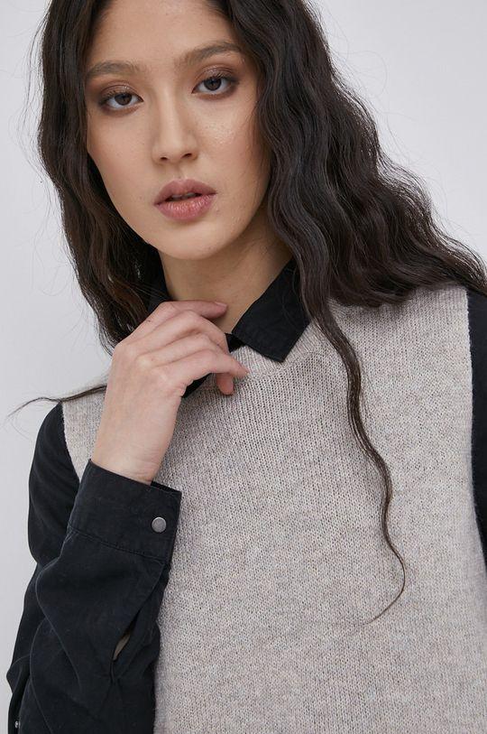 jasny szary Jacqueline de Yong - Kamizelka