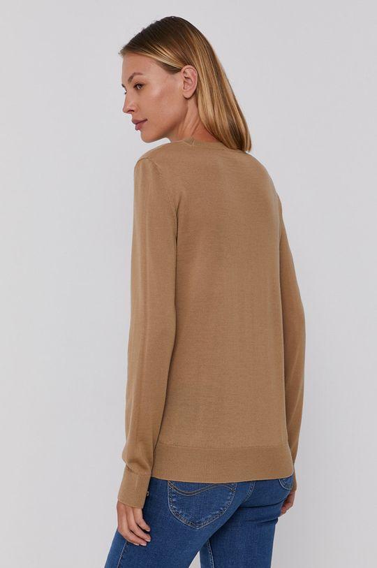 beżowy Emporio Armani - Sweter wełniany