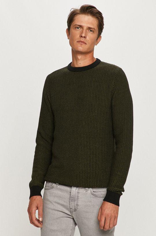 zielony Selected - Sweter Męski