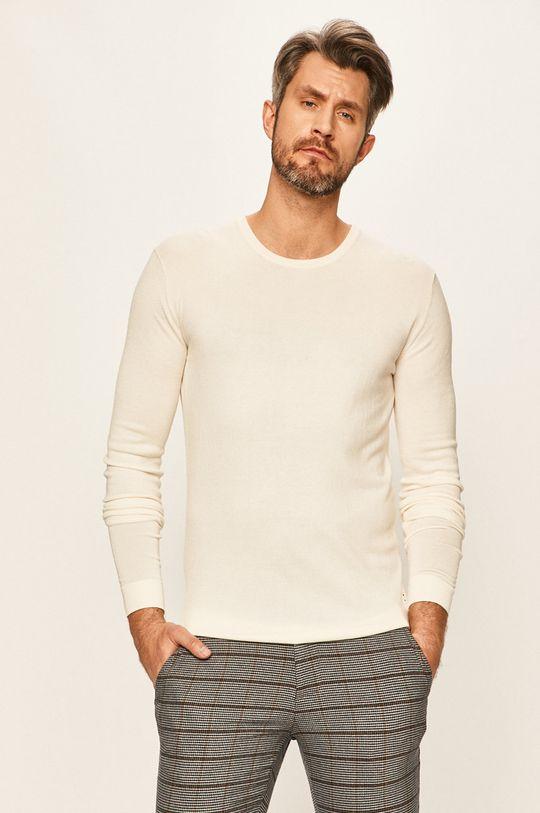 kremowy Tailored & Originals - Sweter Męski