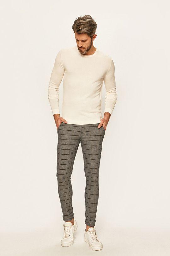 Tailored & Originals - Sweter kremowy