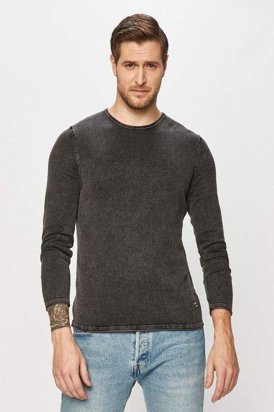 szary Jack & Jones - Sweter 12174001 Męski
