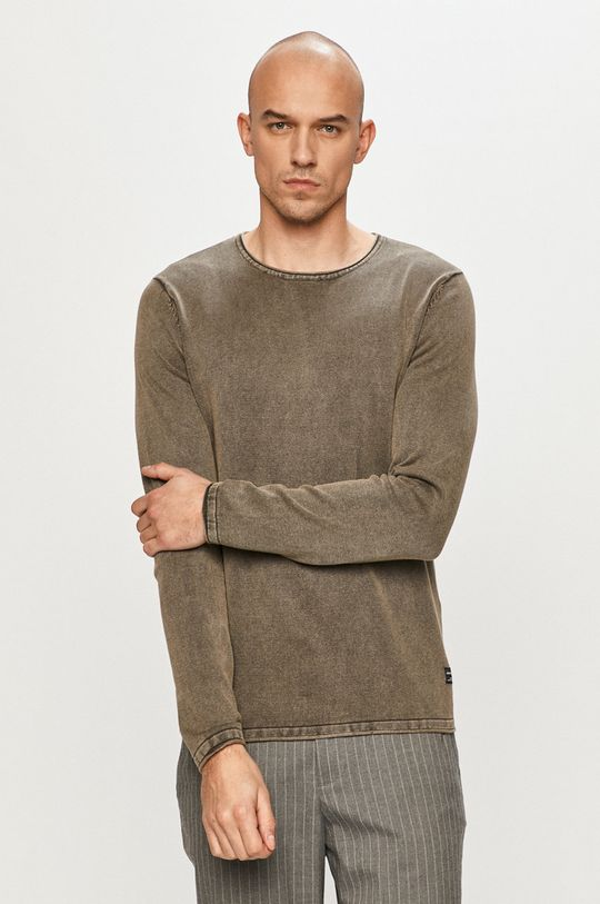 oliwkowy Jack & Jones - Sweter