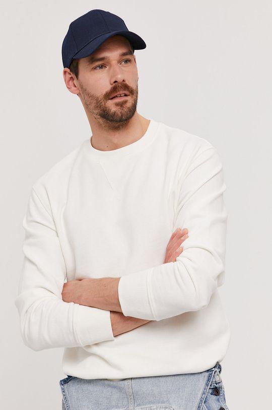 bílá Selected - Bavlněná mikina Pánský