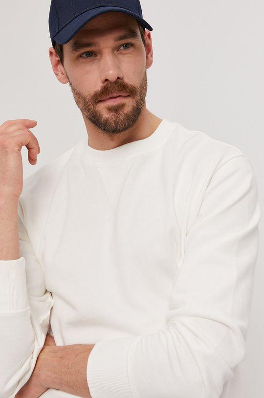 bílá Selected - Bavlněná mikina