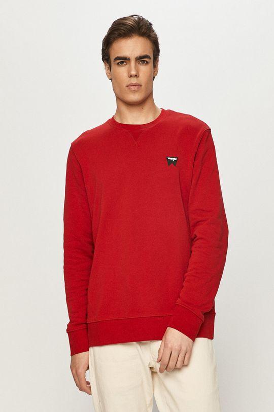 czerwony Wrangler - Bluza bawełniana Męski