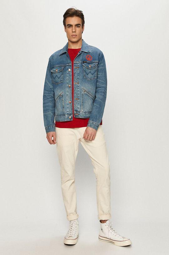 Wrangler - Bluza bawełniana czerwony