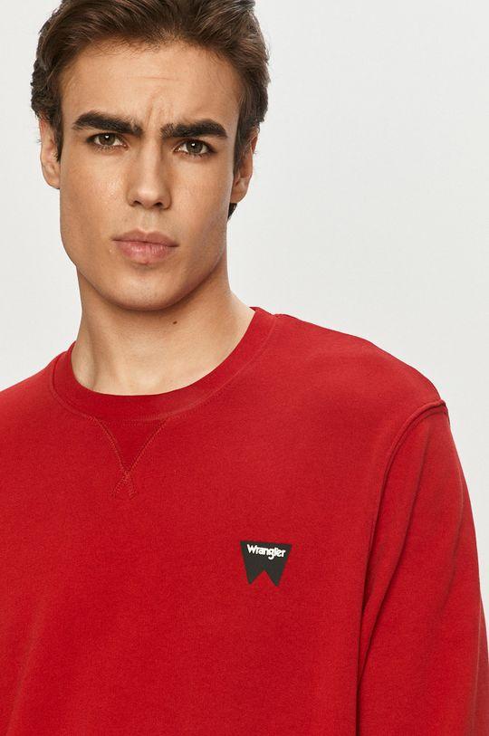 czerwony Wrangler - Bluza bawełniana