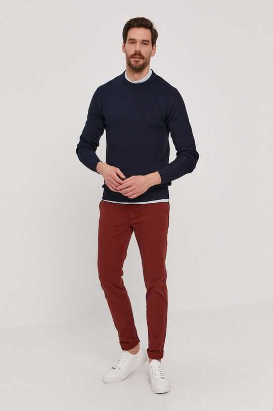 Selected - Sweter granatowy