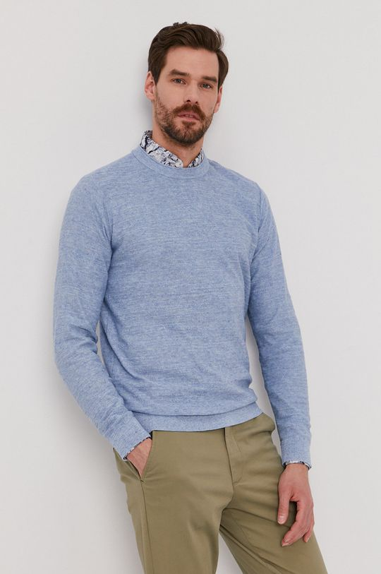 jasny niebieski Selected - Sweter Męski
