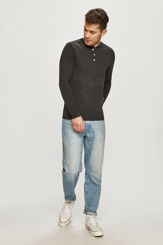 Selected - Tričko s dlouhým rukávem černá