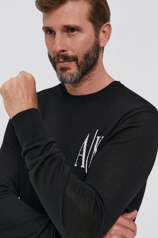 Armani Exchange - Sweter wełniany Męski