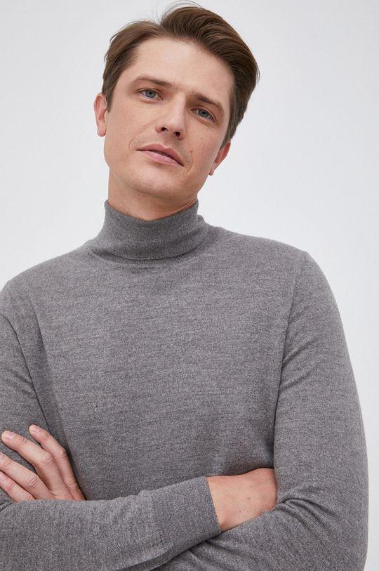 szary Marc O'Polo - Sweter wełniany