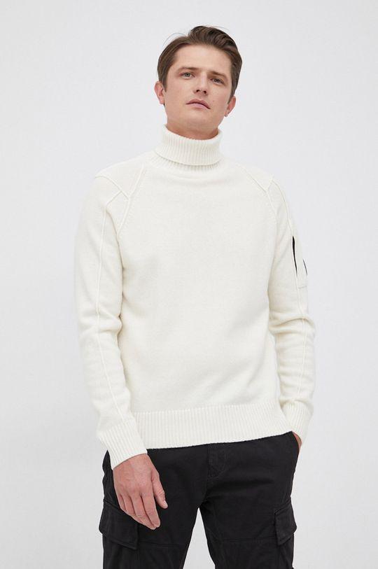 kremowy C.P. Company - Sweter wełniany Męski