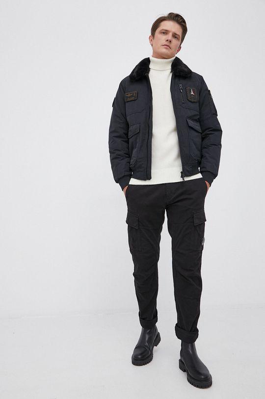 C.P. Company - Sweter wełniany kremowy