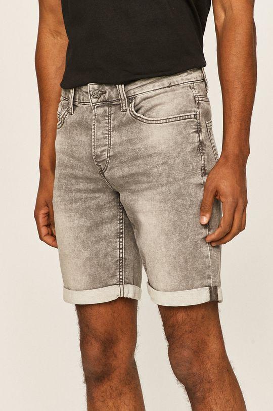 gri Only & Sons - Pantaloni scurti jeans De bărbați