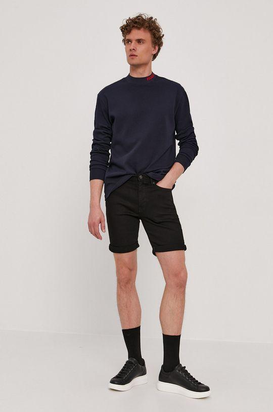 Selected - Szorty jeansowe czarny