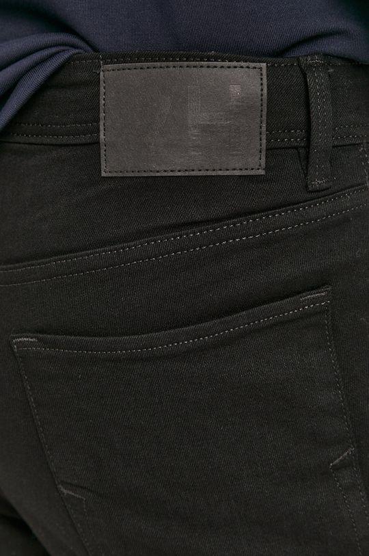czarny Selected - Szorty jeansowe