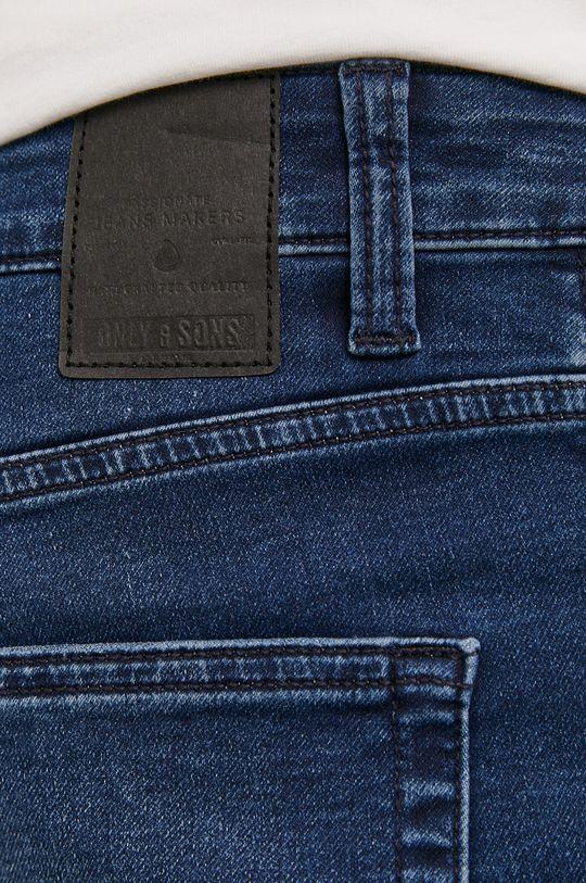 granatowy Only & Sons - Szorty jeansowe