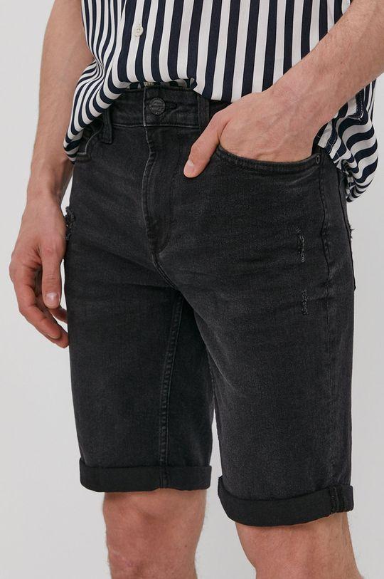 grafitowy Only & Sons - Szorty jeansowe Męski