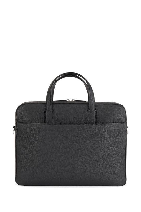 čierna Boss - Kožená taška