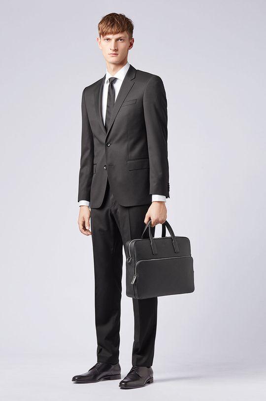 Boss - Kožená taška Pánsky
