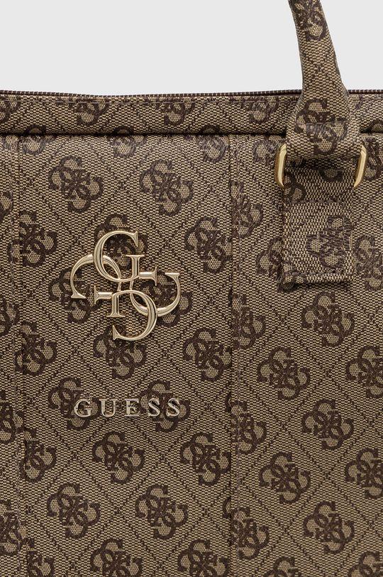 Guess - Torba na laptopa 15 cali brązowy