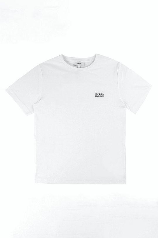 biały Boss - T-shirt dziecięcy 164-176 cm Chłopięcy
