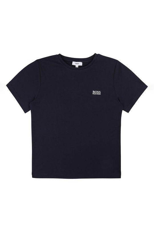 granatowy Boss - T-shirt dziecięcy 164-176 cm Chłopięcy
