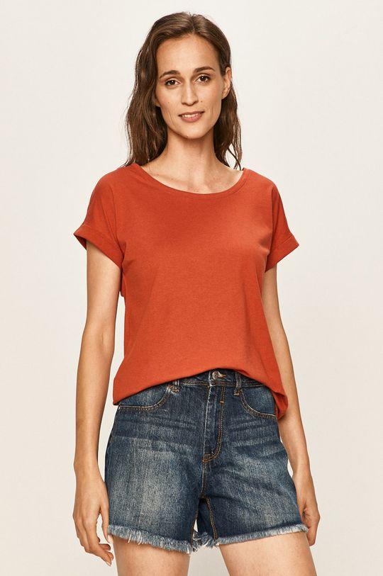 czerwony Vila - T-shirt Damski