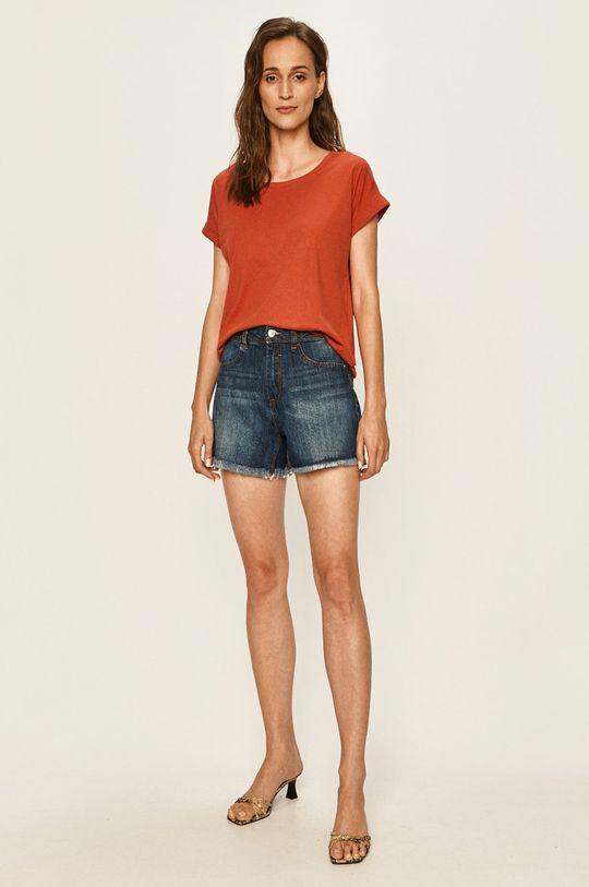 Vila - T-shirt czerwony