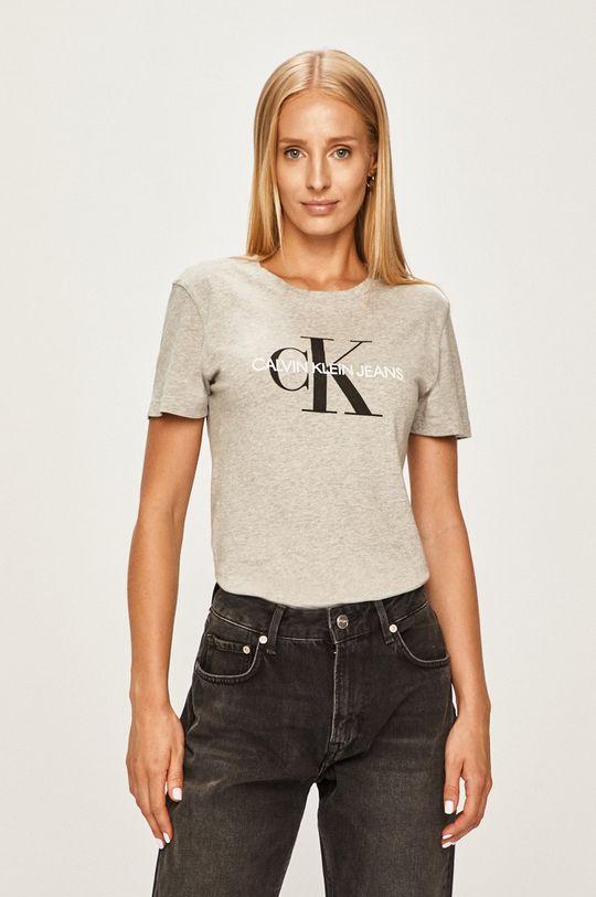 svetlosivá Calvin Klein Jeans - Tričko Dámsky