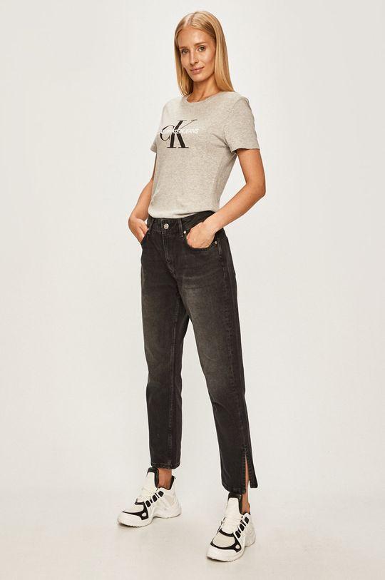 Calvin Klein Jeans - Tričko svetlosivá