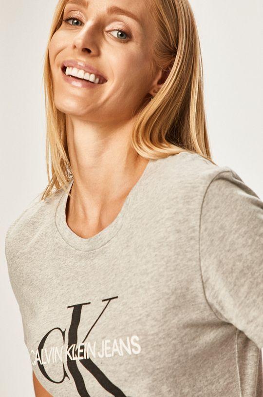svetlosivá Calvin Klein Jeans - Tričko