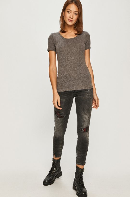 Tommy Jeans - T-shirt szary