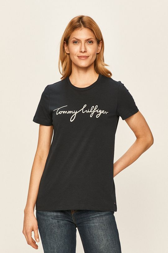 granatowy Tommy Hilfiger - T-shirt Damski