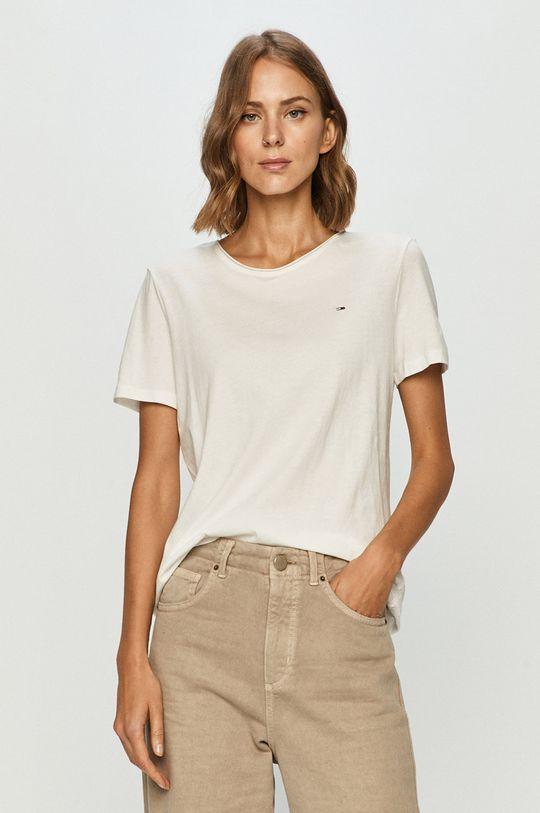 biela Tommy Jeans - Tričko Dámsky