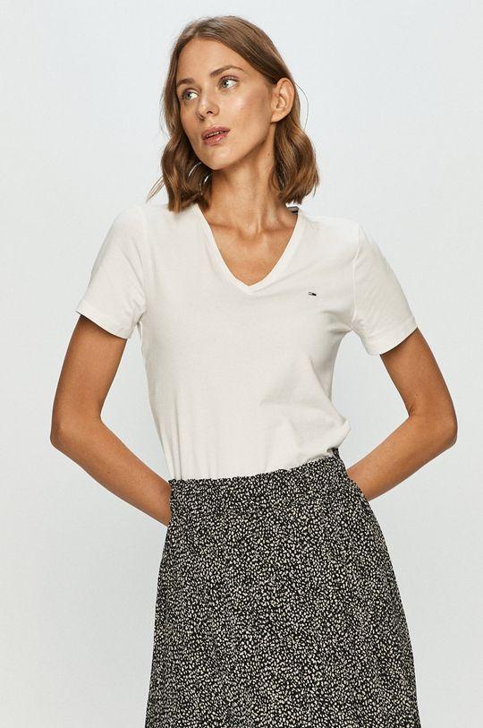 alb Tommy Jeans - Tricou De femei