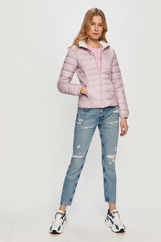 Pieces - T-shirt ostry różowy