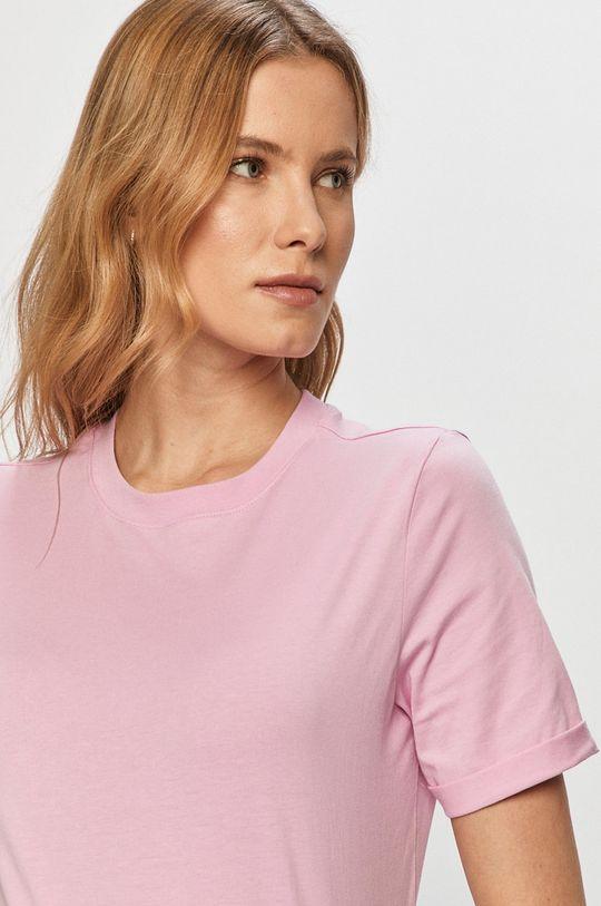 ostry różowy Pieces - T-shirt