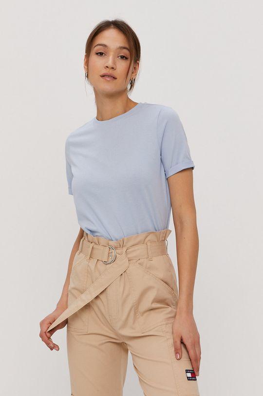 jasny niebieski Pieces - T-shirt Damski