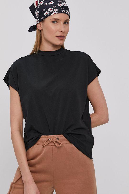 czarny Noisy May - T-shirt Damski