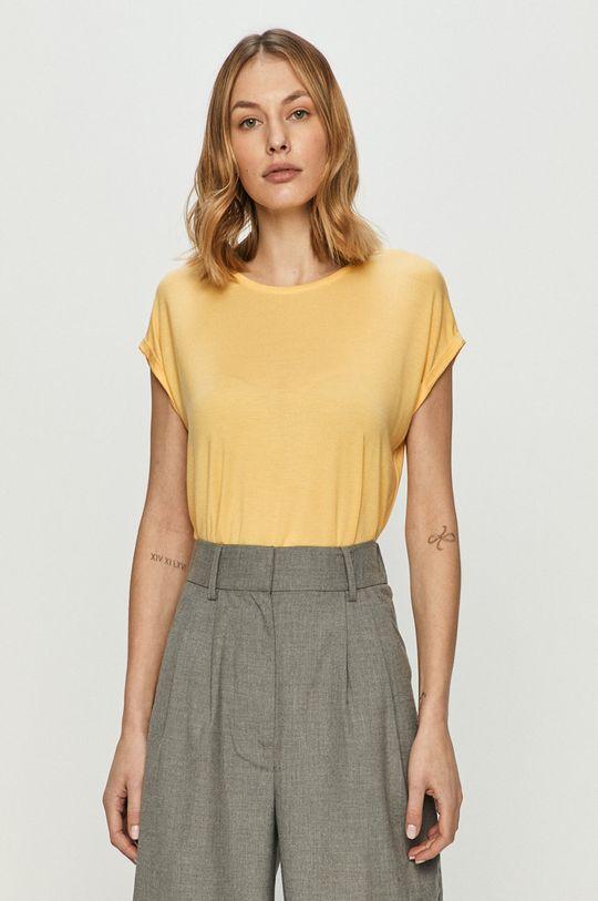 jasny żółty Vero Moda - T-shirt Damski
