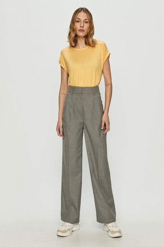 Vero Moda - T-shirt jasny żółty