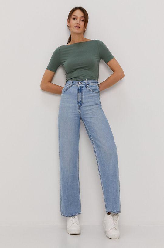 Vero Moda - Tričko tyrkysová modrá